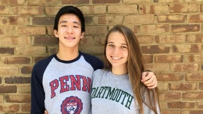 Harrison Chen and Kaitlyn Kelley