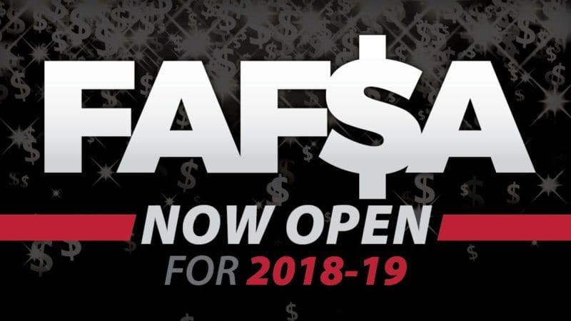 2018-19 FAFSA open
