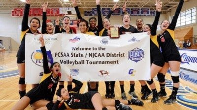 Polk State's volleyball team competes in the NJCAA Division 1 Volleyball National Championships in Casper, Wyo., this week. It is the first national championship berth in program history.