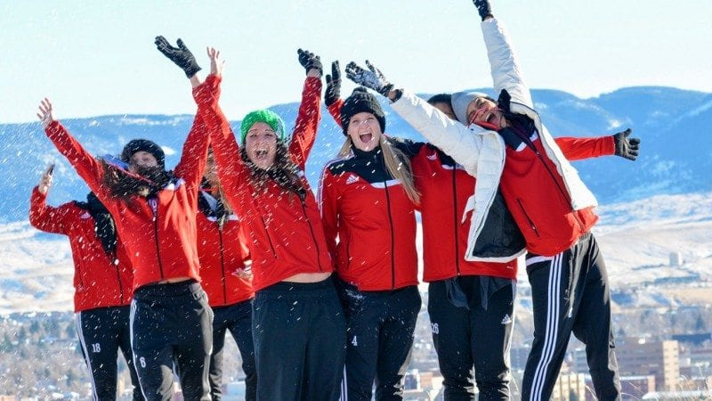 The Polk State volleyball team is in Casper, Wyo., to compete for the national championship. On Wednesday, their first full day in town, the teammates made time to play in the snow and snap pictures of wildlife.