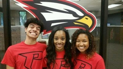 From left, Eric Ardito, Jamecia May and Iris Wilson.