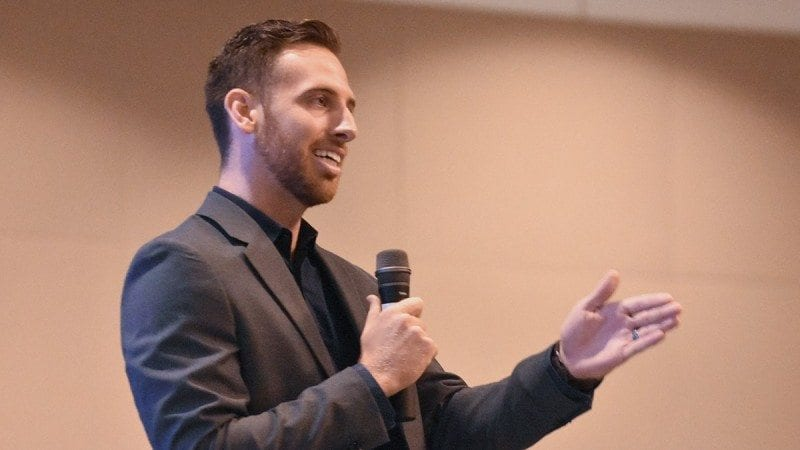 Tim Moore, an alumnus of Pasco-Hernando State College who founded Diamond View Studios, was the keynote speaker at Polk State Lakeland's First Flight Convocation for new freshmen on Friday.
