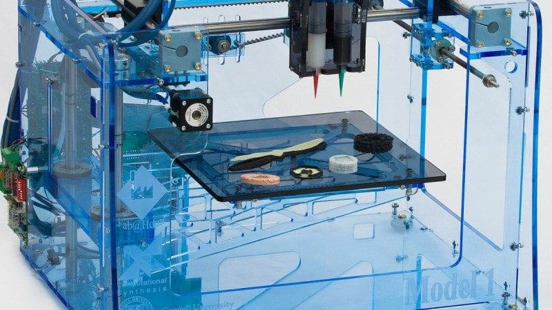 "3-D printers like this one are being used to ""print"" three-dimensional objects. Polk State will host Isaac Budmen, an artist and inventor, for three events exploring the possibilities of 3-D printing."