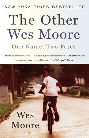 Photo of the cover of The Other Wes Moore book