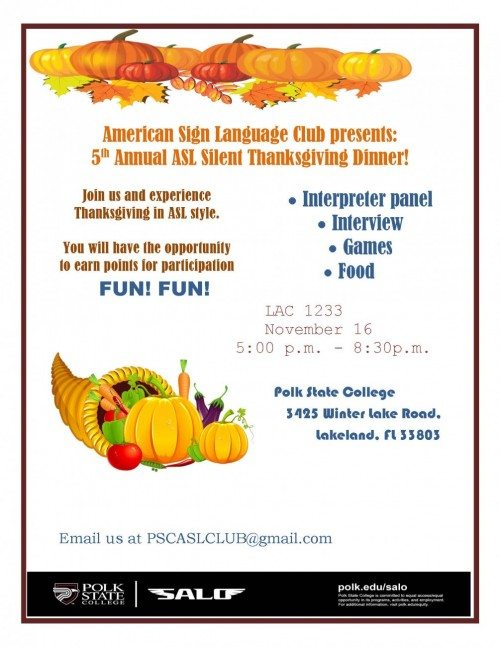 ASL Thanksgiving Fall 2015