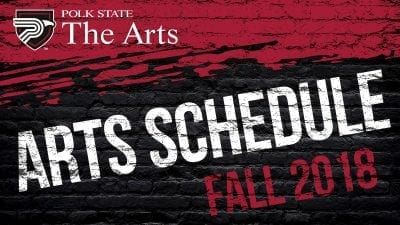 Arts Schedule Fall 2018