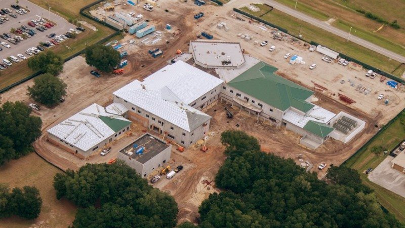 "The Polk State Center for Public Safety will open in January. On Thursday, College and law enforcement officials, as well as members of the construction team, celebrated its progress with a ""topping out"" ceremony."