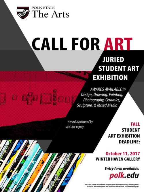 Call for student art poster
