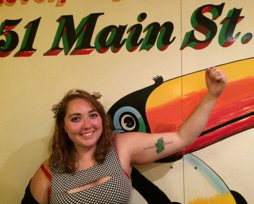 Polk State student Shannon Caswell shows off her Ireland tattoo while in Bundoran, County Donegal.