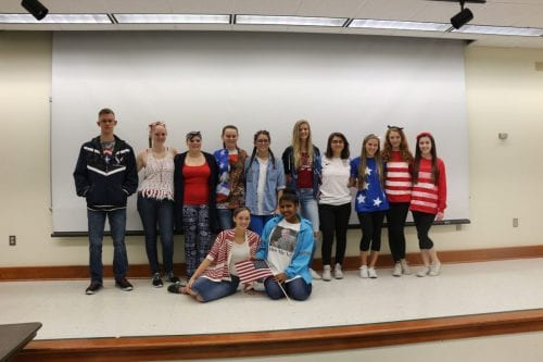 Collegiate juniors celebrate America Day.