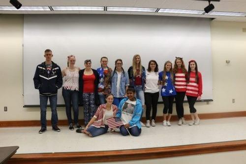 Collegiate juniors celebrate America Day.