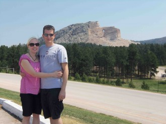 Jason and Jennifer Selfridge at Crazy Horse Memorial in South Dakota.