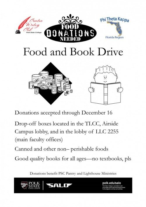 Food drive flyer Potrait