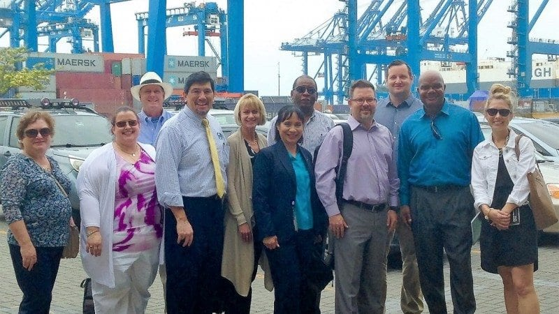Polk State Bachelor of Applied Science in Supervision and Management students, employees, and representatives from the Central Florida Development Council visited Manzanillo International Terminal on Tuesday. It was one of several carefully selected visits made to complement their coursework back home and expose them to international business.