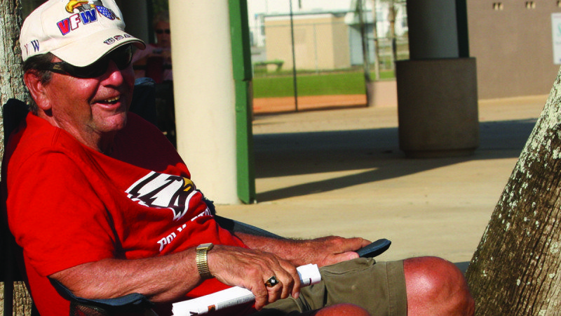 Retiree Herb Hull is a loyal Polk State Eagles fan, attending numerous games while wintering in Winter Haven.