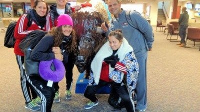 The Polk State College volleyball team arrived in Casper, Wyo., on Tuesday, to compete for the national championship.