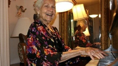 Virginia Davidson was one of the first faculty members hired for the College's Music program.