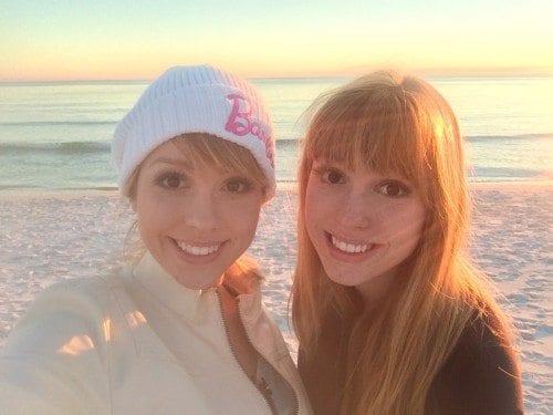 Amy (L) and Elisha Dunfee