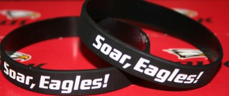 "Polk State alumnus Robert Clark is rarely without his ""Soar, Eagles!"" bracelet."