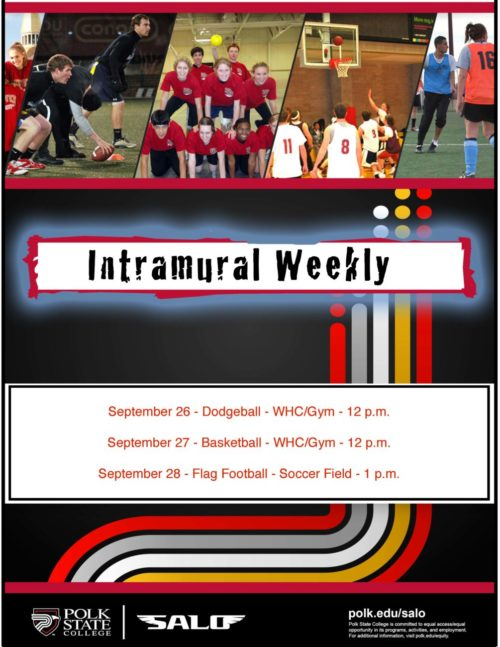 SALO Intramural schedule flyer