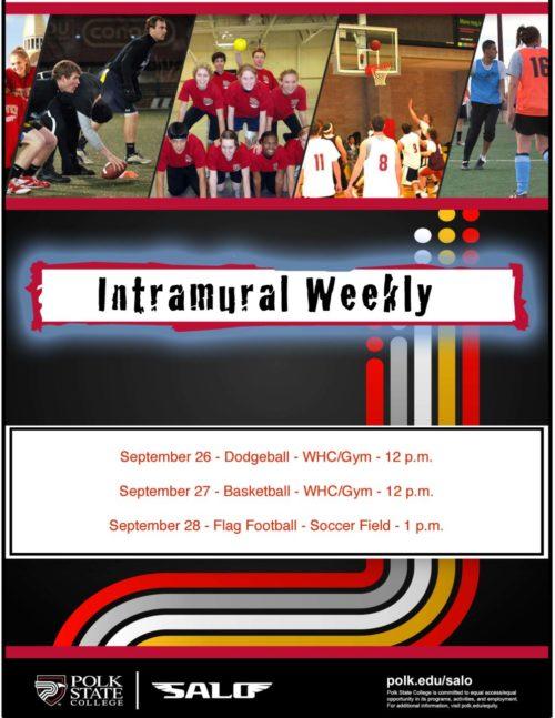 SALO Intramural schedule flyer
