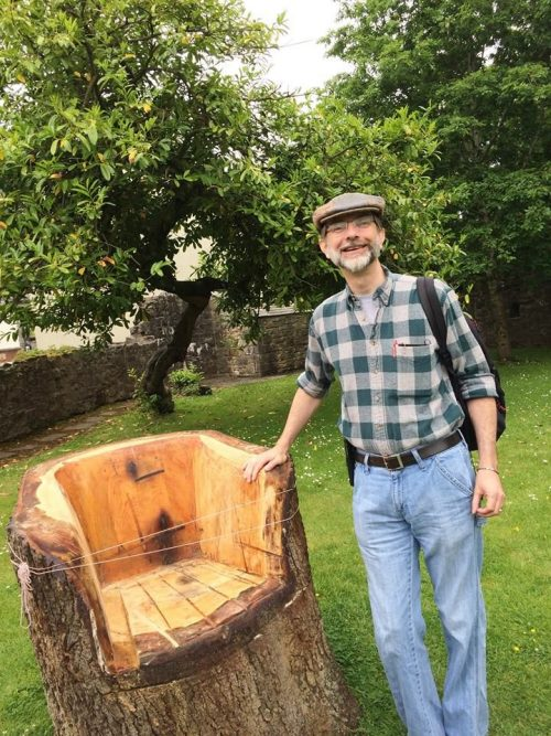 English Professor CR Junkins during a tour of Donegal Castle.