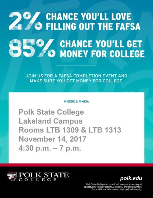 FAFSA Event flier