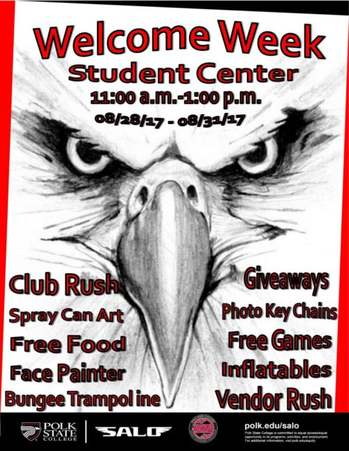 SALO Lakeland Welcome week flyer
