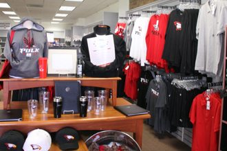 The Lakeland Campus bookstore has plenty of Polk State gear in stock.