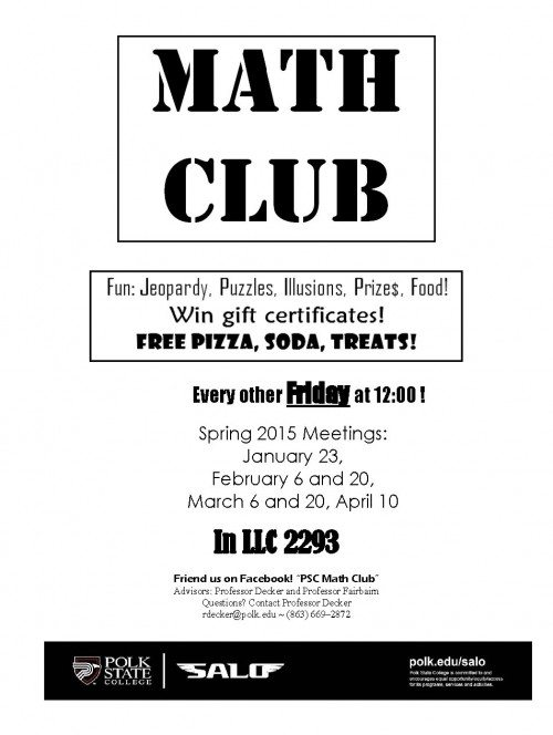 Math Club Flyer-Lakeland