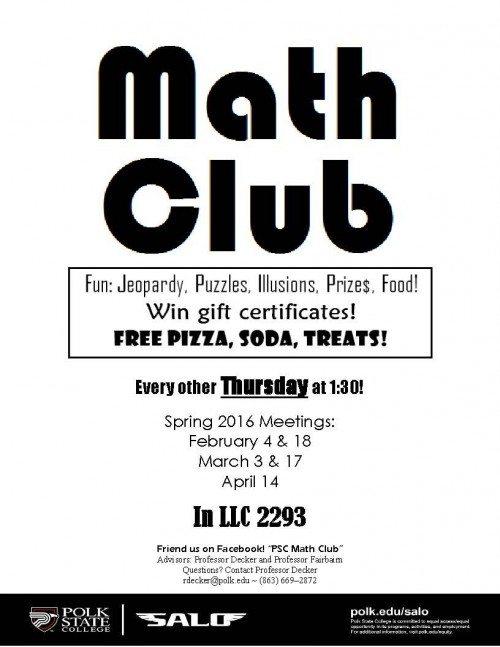 Math Club Flyer Spring lkd