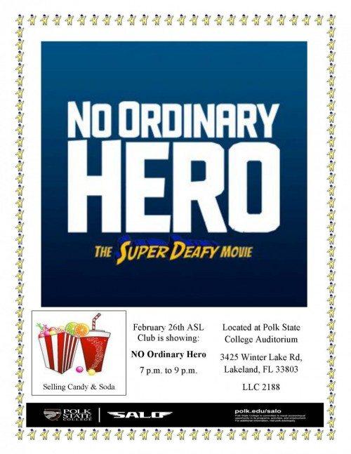 No Ordinary Hero flyer