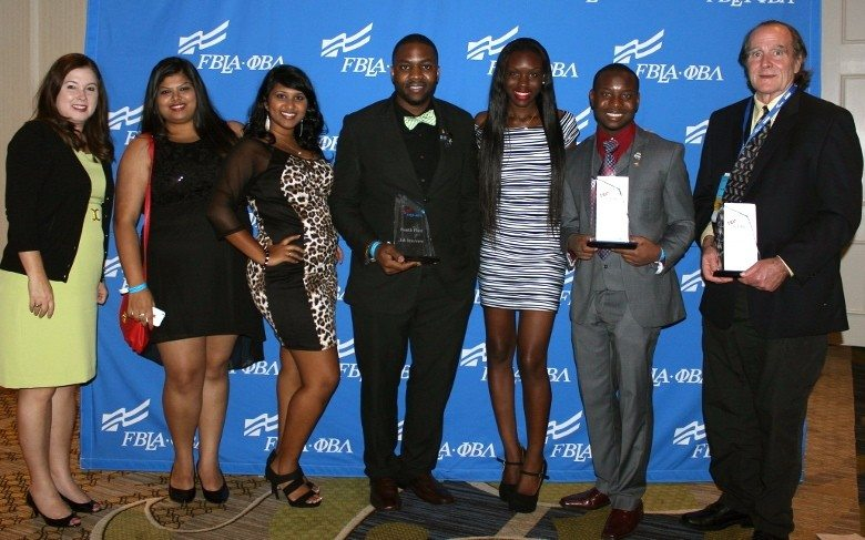 Polk State College students recently attended and competed in Phi Beta Lambda's National Conference, where they earned three top-10 finishes. From left, club adviser Kim Simpson and students Sonu Thakor, Diane Thomas, Jamie Butler, Ebony Bellamy, Cedriss Saint-Louis and Jim Harmon.