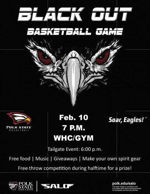 PSC Black-Out Game Flyer