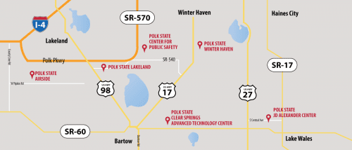 Polk State College locations map