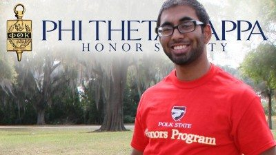 Slade Fernandes is the first Polk student to receive the Coca-Cola Leaders of Promise Scholarship through Phi Theta Kappa, the international honor society of two-year colleges.