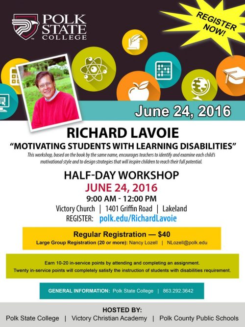 Richard Lavoie flyer