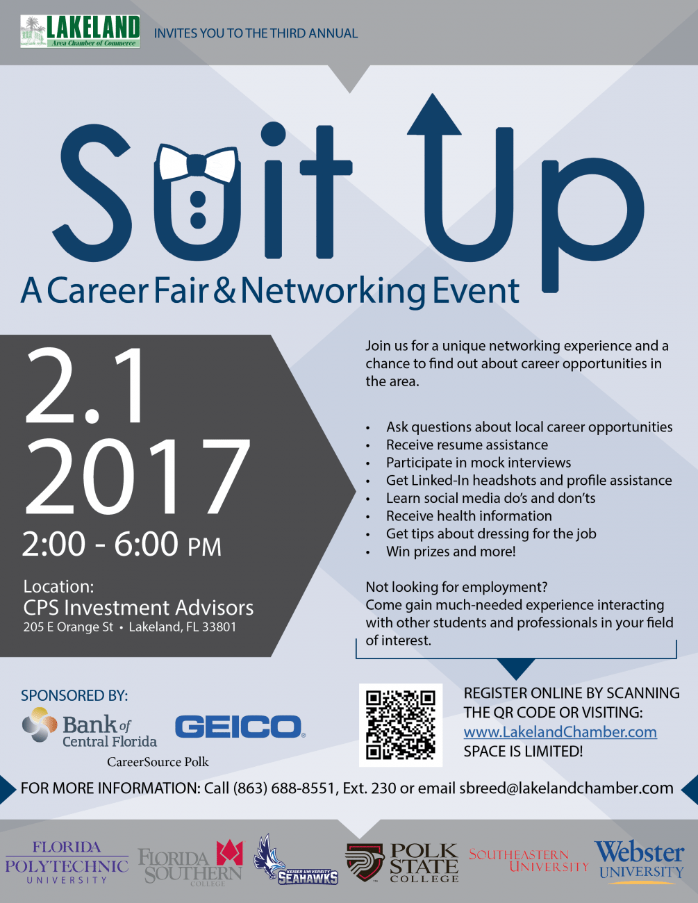 suit up a career fair networking event state college