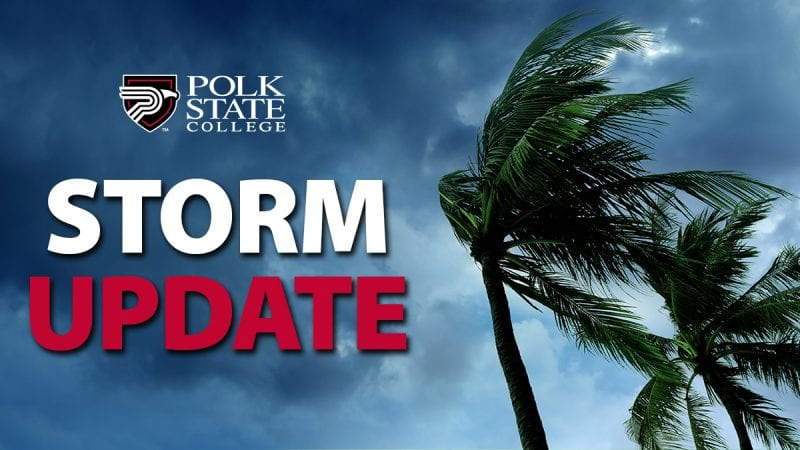 Polk State will be closed through Wednesday due to Hurricane