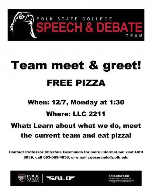 Team meet and greet flier