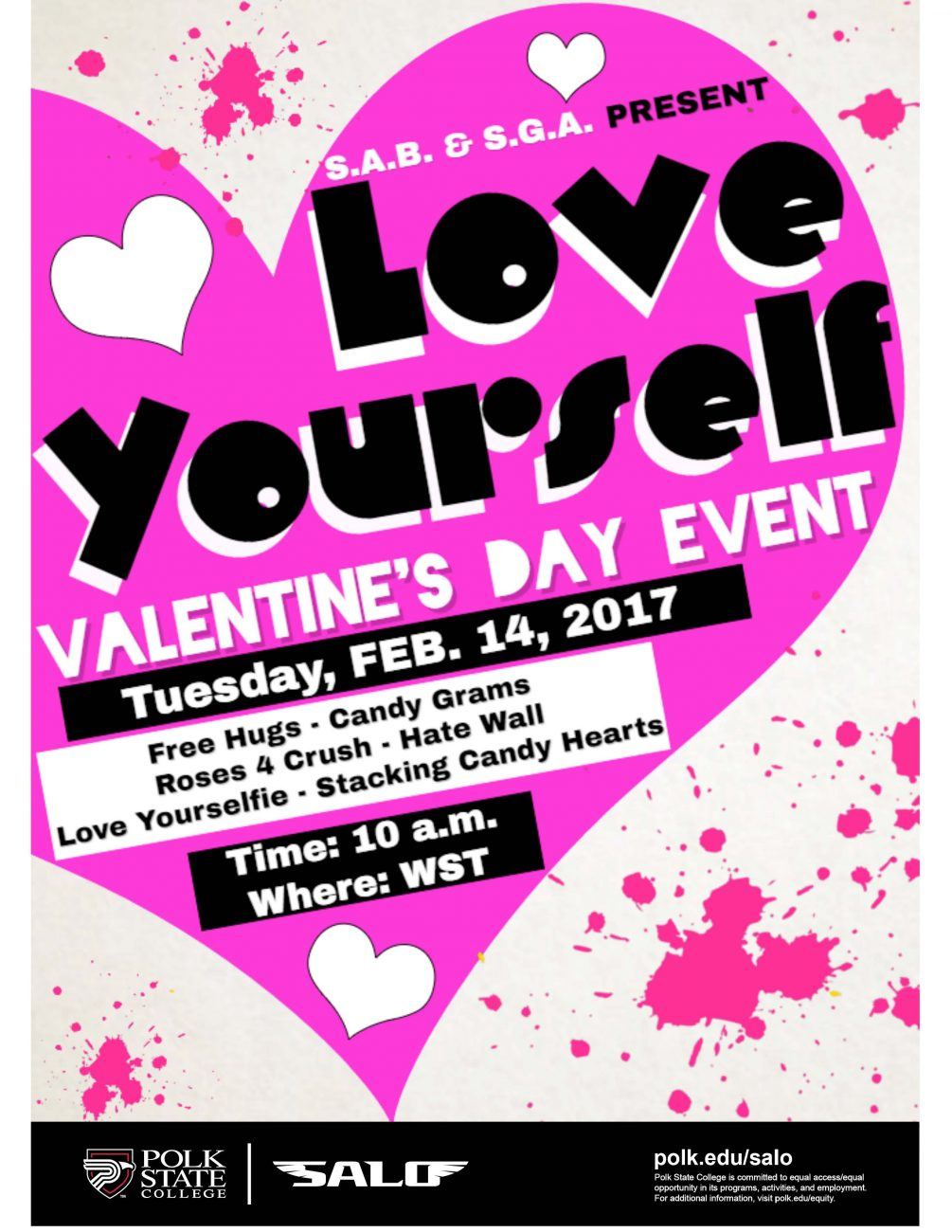 "polk state salo s.a.b. & s.g.a. present ""love yourself, Ideas"