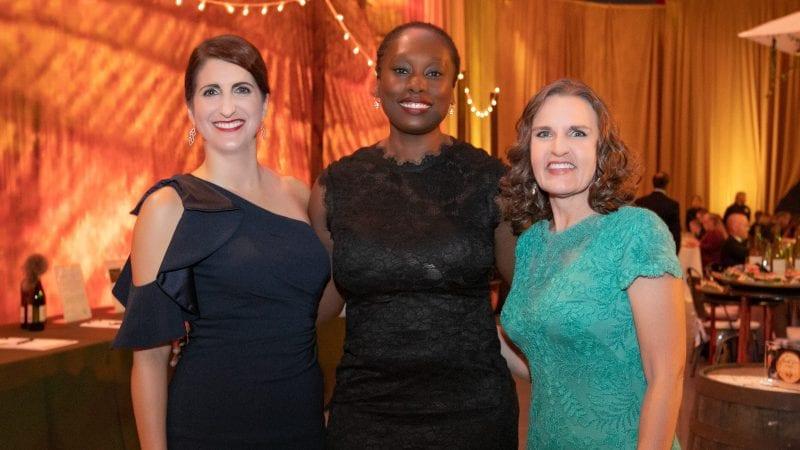 President Falconetti, Tori King, and Tracy Porter