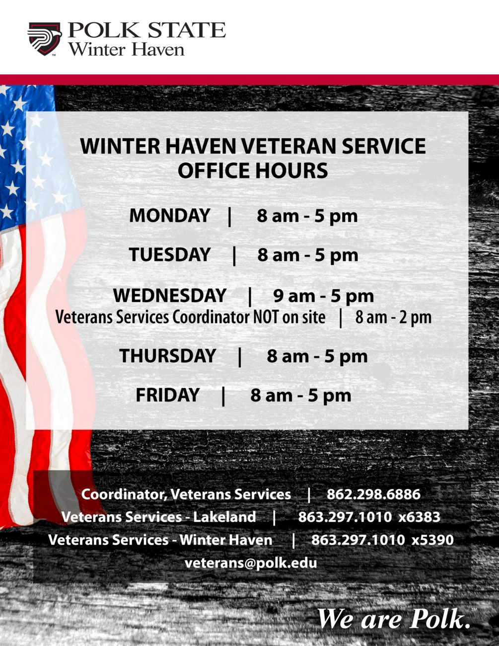 Veteran information polk state college related info 1betcityfo Choice Image