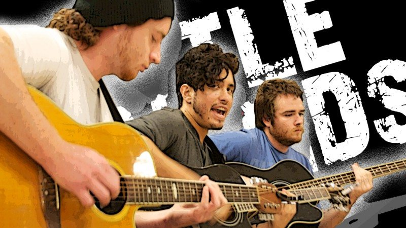 From left, Nick Swiney, Jared Houts and Kyle Town are three members of the band Trials, which will represent Polk State in the United Way's upcoming Battle of the Bands.