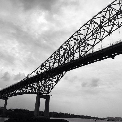 The Bridge of the Americas as seen from the Panama Canal