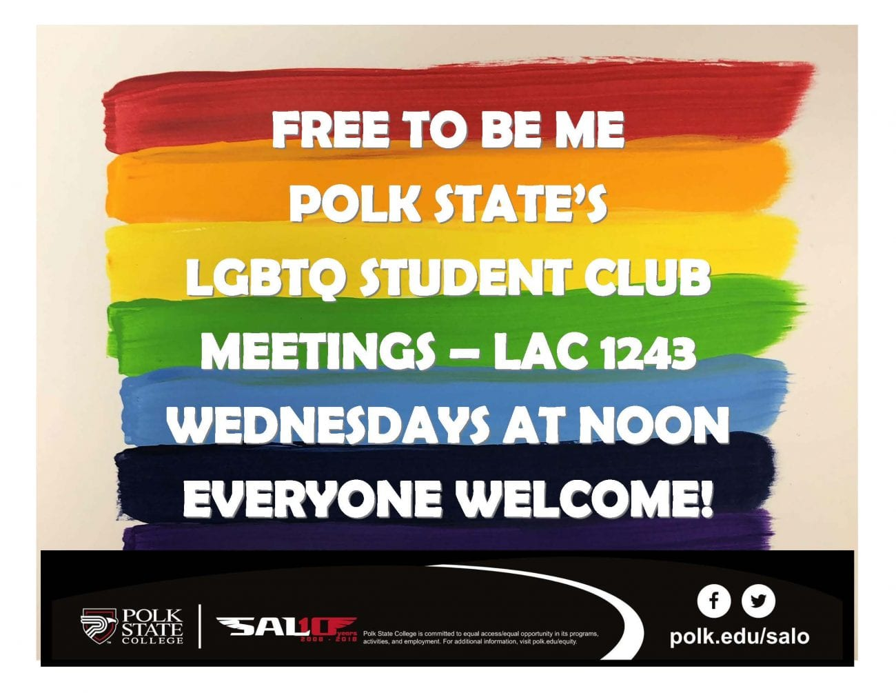 Polk State College SALO Free To Be Me Club Meeting