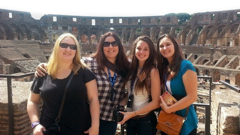 A group of Polk State students stops for a photo at the Colosseum in Rome. Italy is among the study -abroad destinations Polk State is offering to students in 2016.