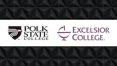 Polk State College and Excelsior College Logos