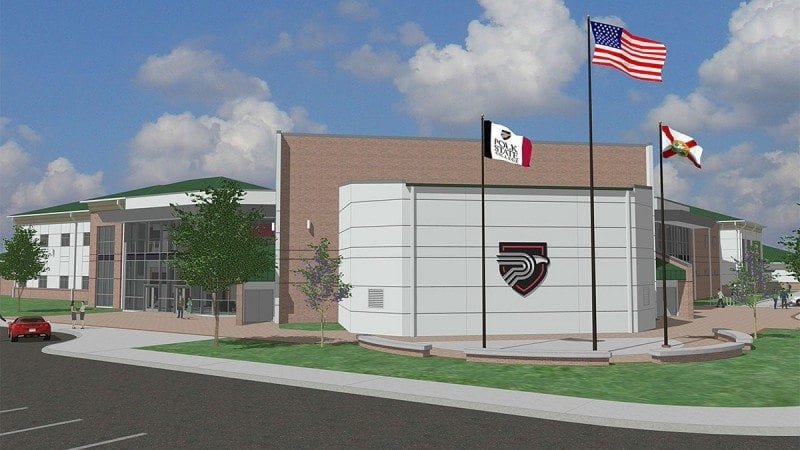 A rendering of the Polk State Center for Public Safety, which will open in 2016