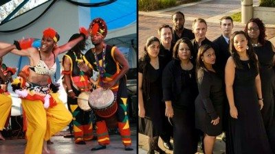 Dundu Dole, left, and the Tampa Spiritual Ensemble will perform during Black History Month at Polk State College.